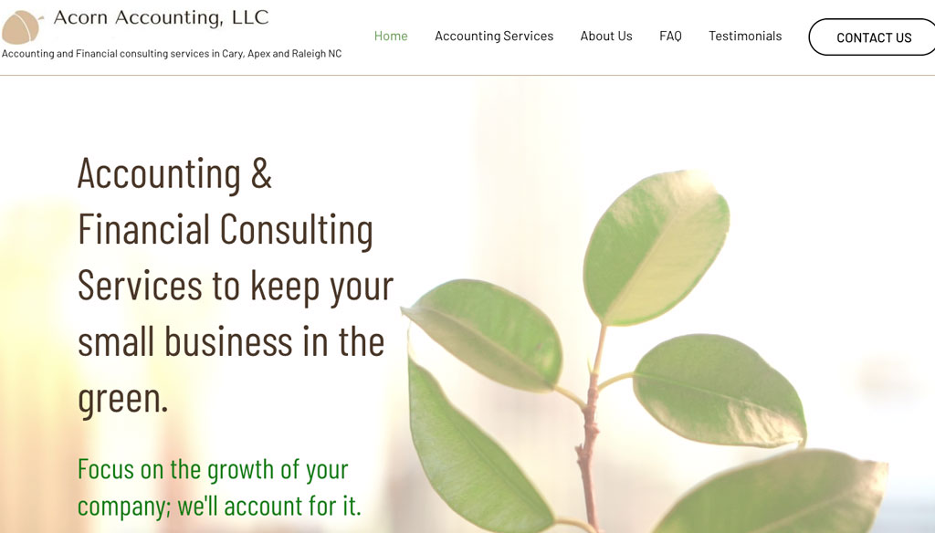 Acorn Accounting Website