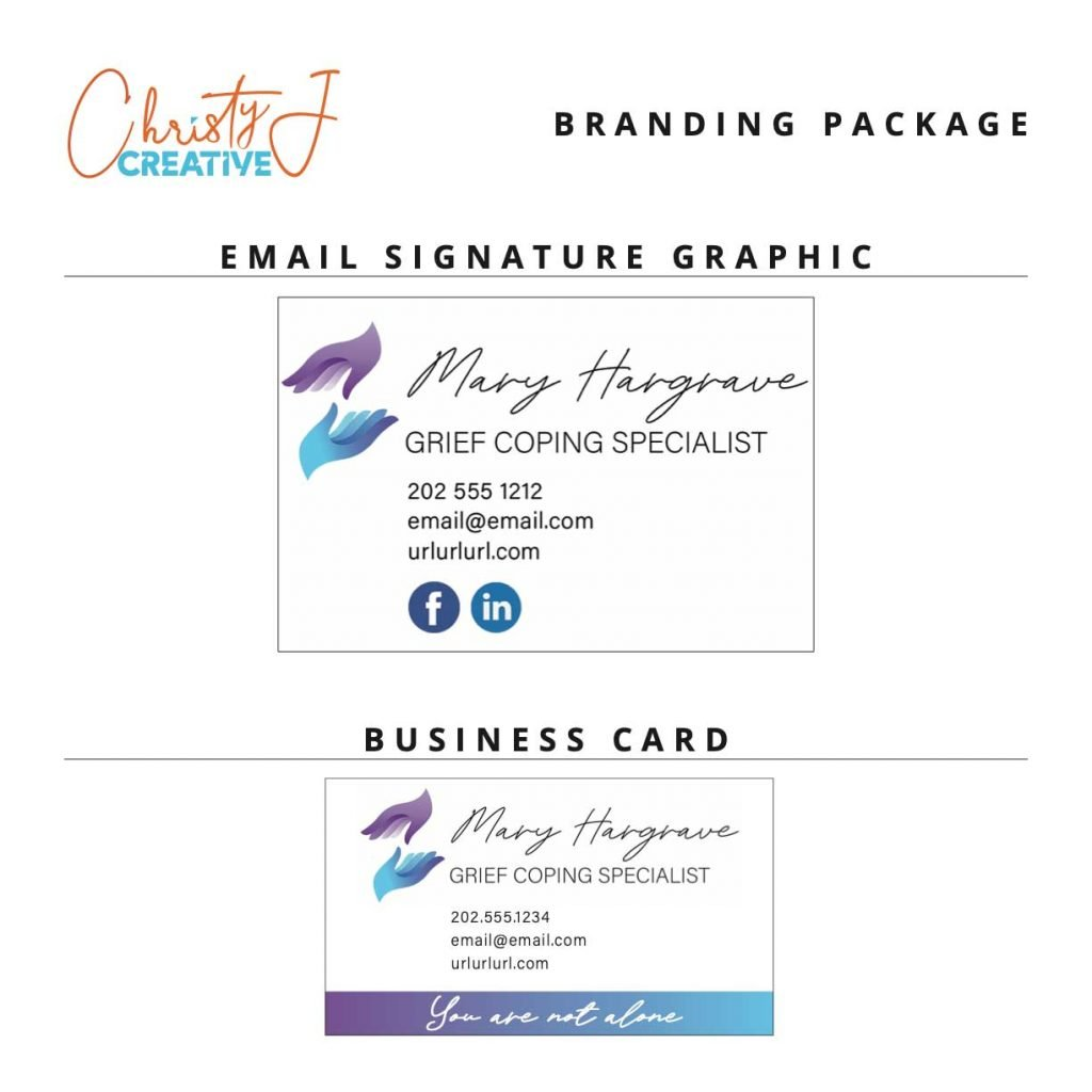 Graphic Design Sample - Business Card and Email Sig