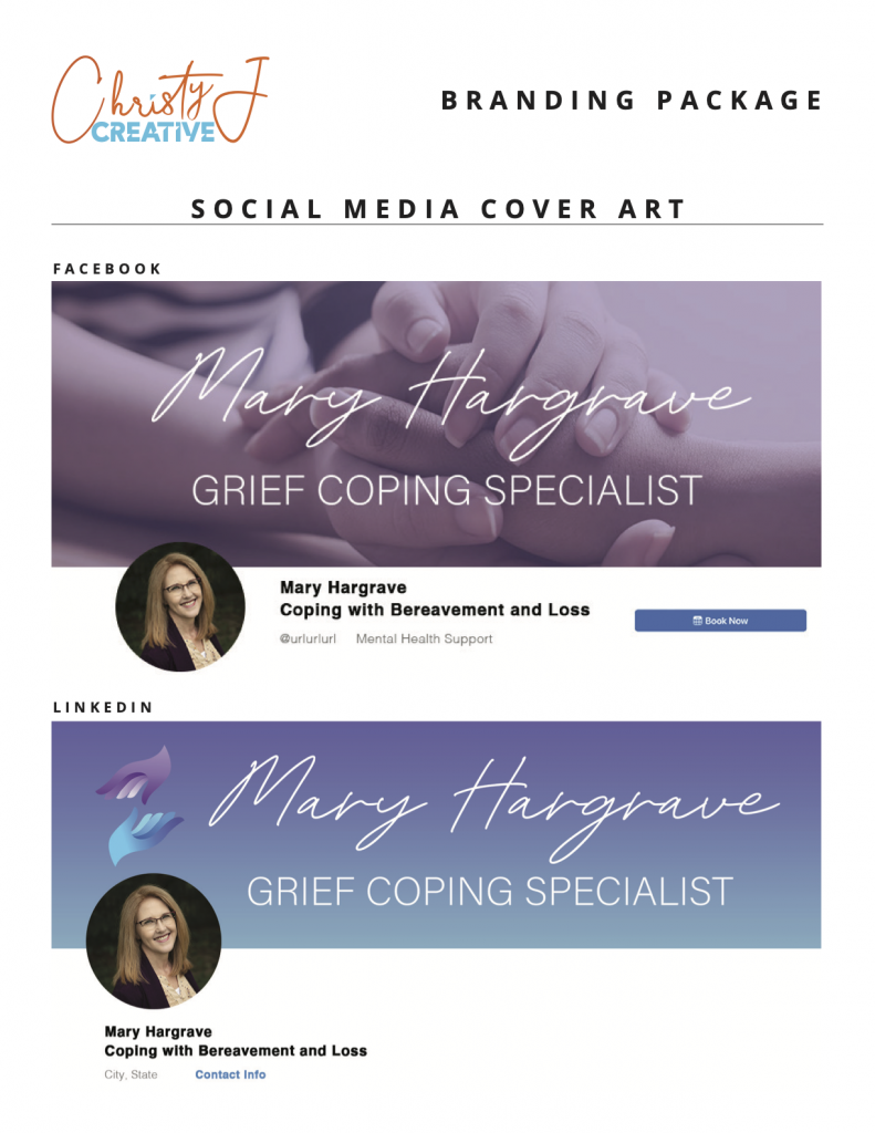 Social Media Graphic Design Package Example from Web Luminary