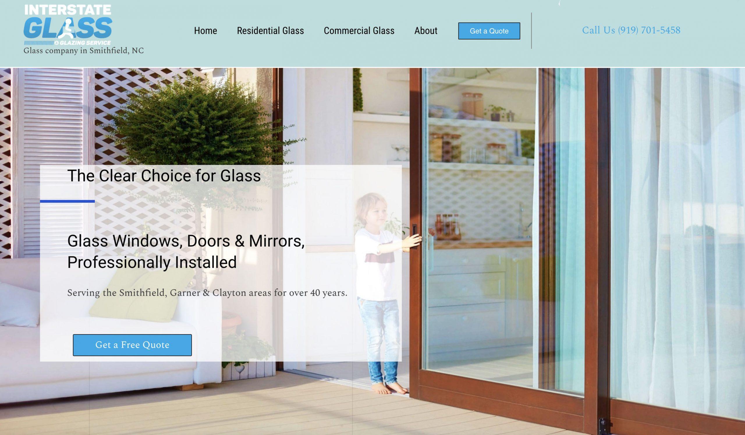Interstate Glass website Smithfield NC