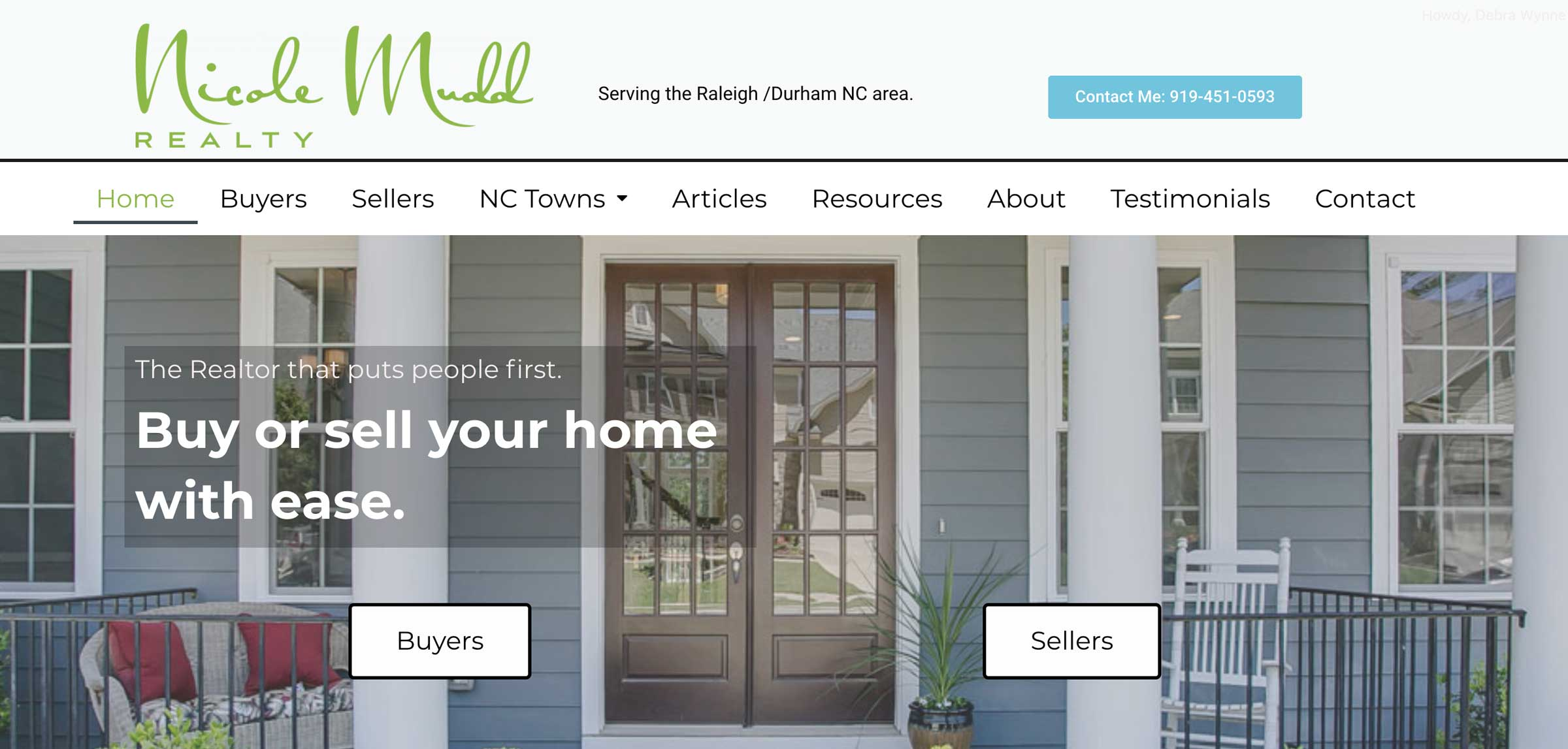 Website for Realtor in Cary