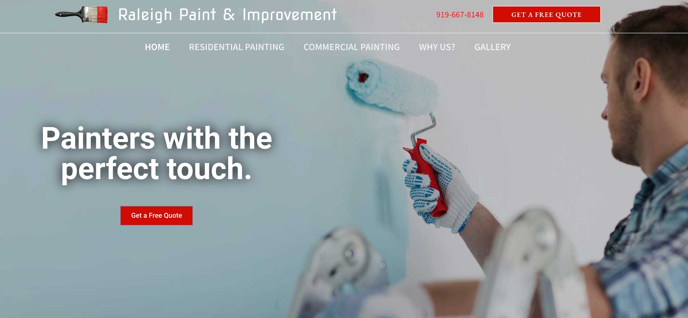 website for a Painting company in Raleigh