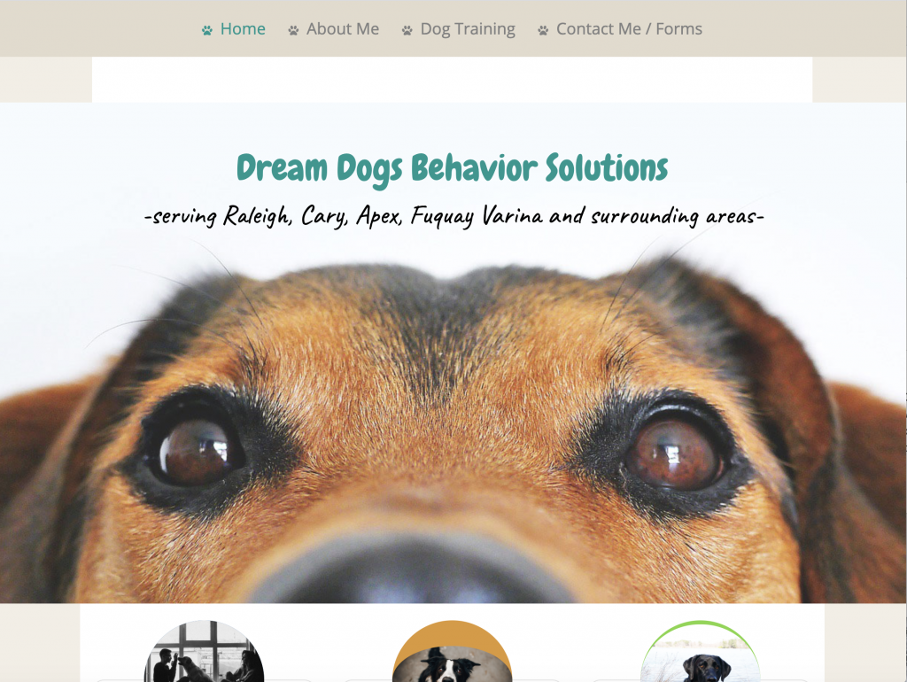 Dream Dogs Website screenshot