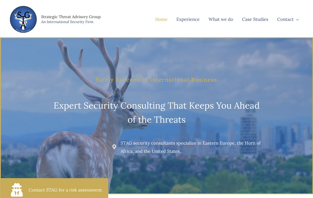 Strategic Threat Advisory Group home page